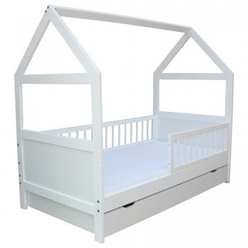 micoland kinderbett juniorbett bett haus 140 x 70 cm. Black Bedroom Furniture Sets. Home Design Ideas