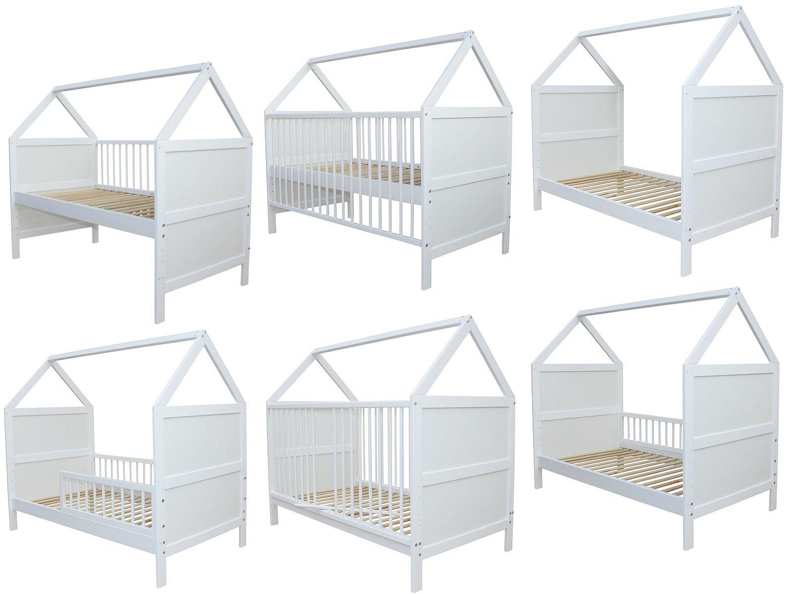 Micoland - Babybett Kinderbett Juniorbett Bett Haus 140x70 cm ...
