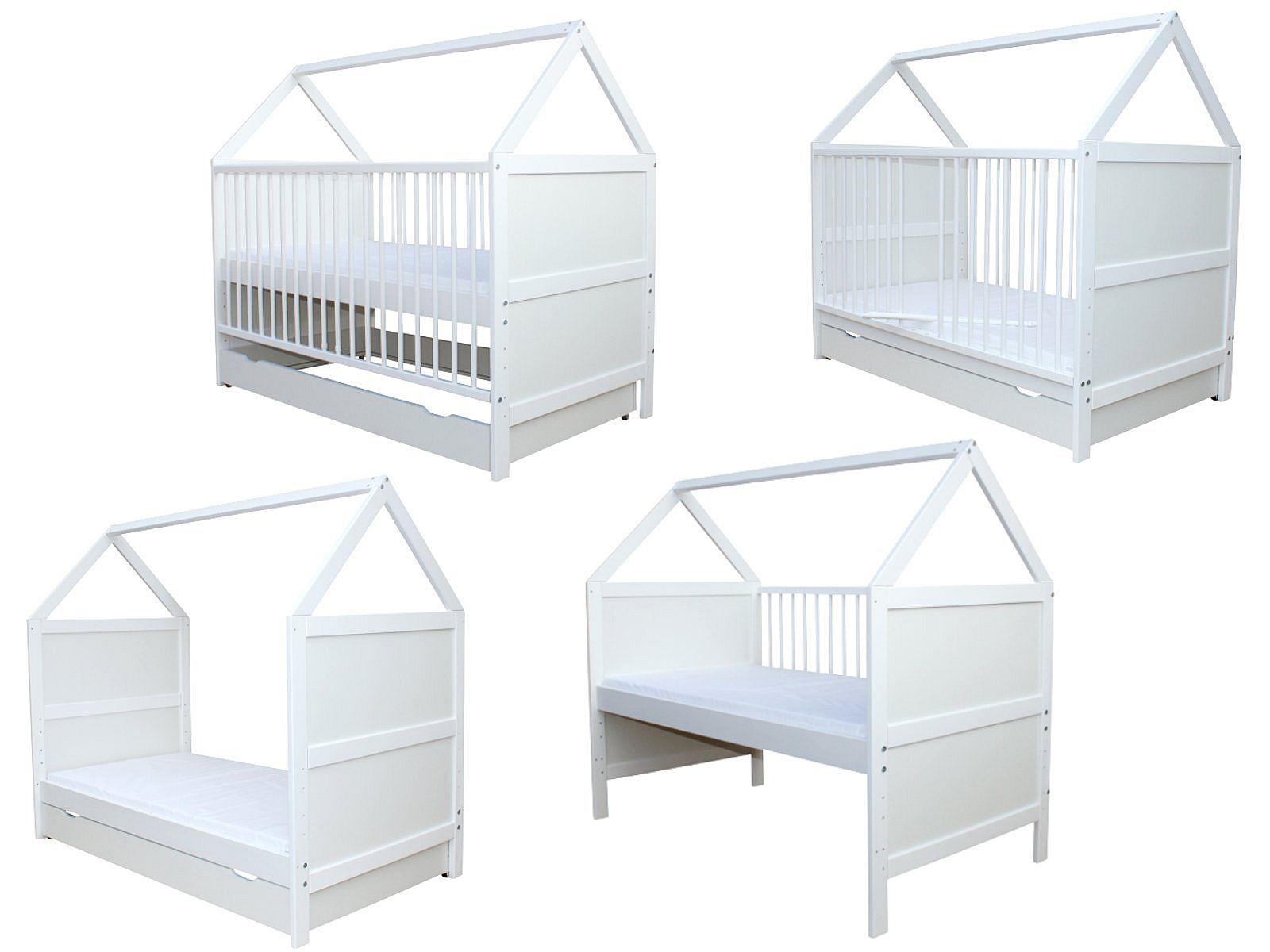 Micoland - Babybett Kinderbett Juniorbett Bett Haus 140x70 ...