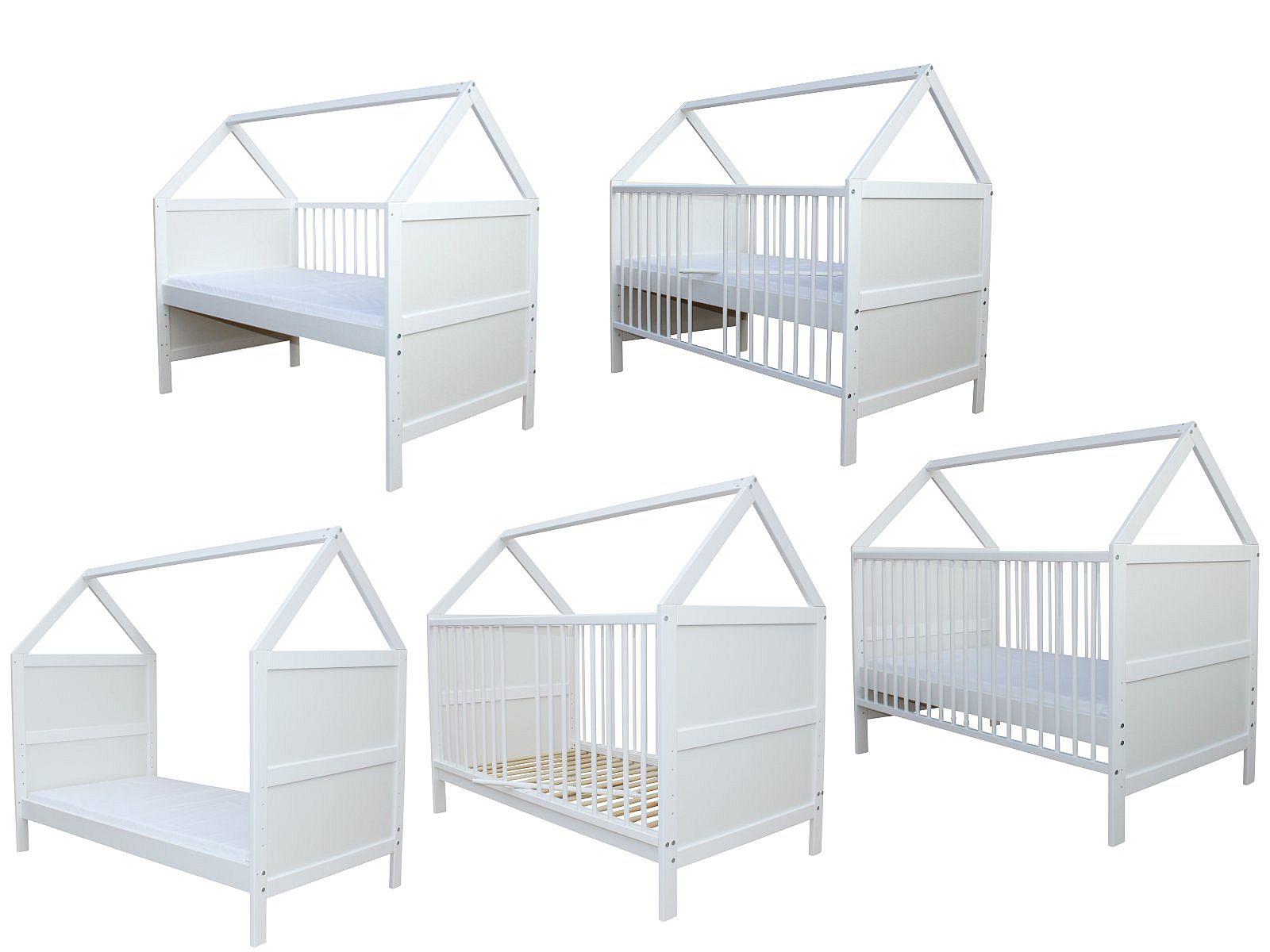 Micoland Babybett Kinderbett Juniorbett Bett Haus 140x70 Cm