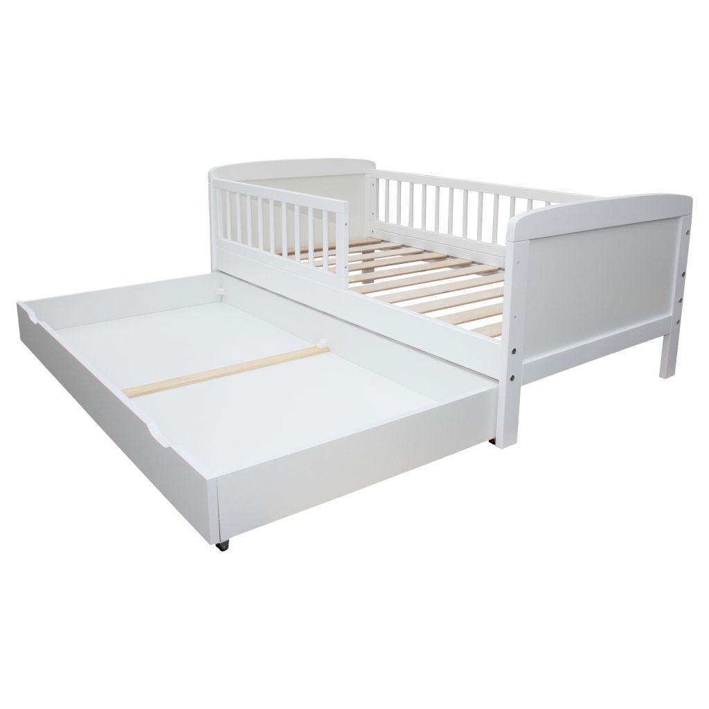 micoland schublade f r kinderbett juniorbett 140x70 cm weiss. Black Bedroom Furniture Sets. Home Design Ideas